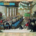 Fredsbanketten i Nürnberg samlade många höga militärer från 30-åriga kriget.